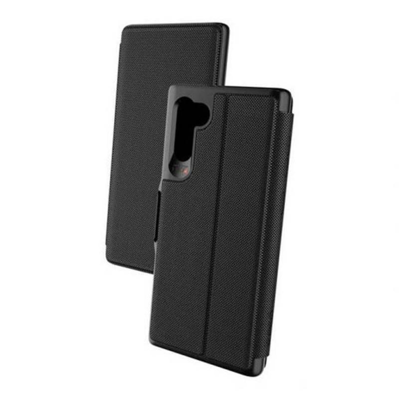 GEAR4 D3O Samsung Galaxy Note 10 Oxford Eco Folio-Style (Black)
