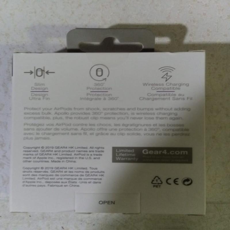 GEAR4 Apple Airpod Cases 1 & 2 Generation - Black