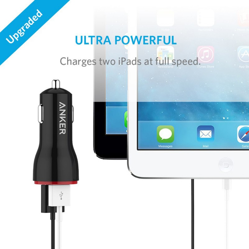 Anker PowerDrive 2 Car Charger Without Cable
