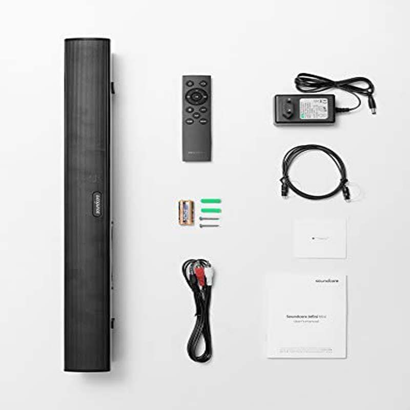 SoundCore Infini Mini Sound Bar – 55cm Sound Bar with Bluetooth Input, Optical or AUX Cable for TV, Movies and Music, 40W