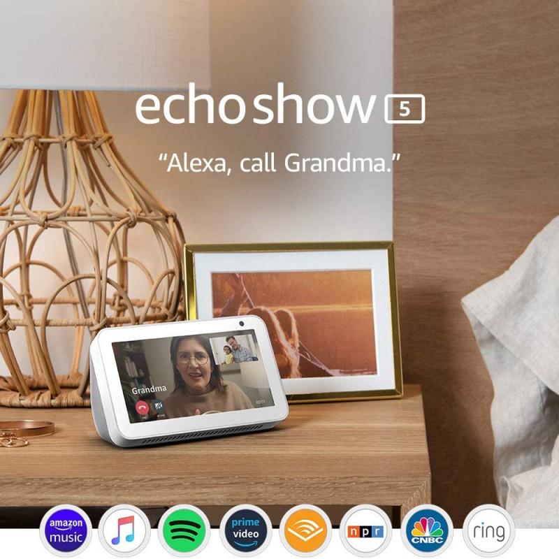 AMAZON ECHO SHOW 5 SMART DISPLAY WITH ALEXA (SANDSTONE, CHARCOAL)