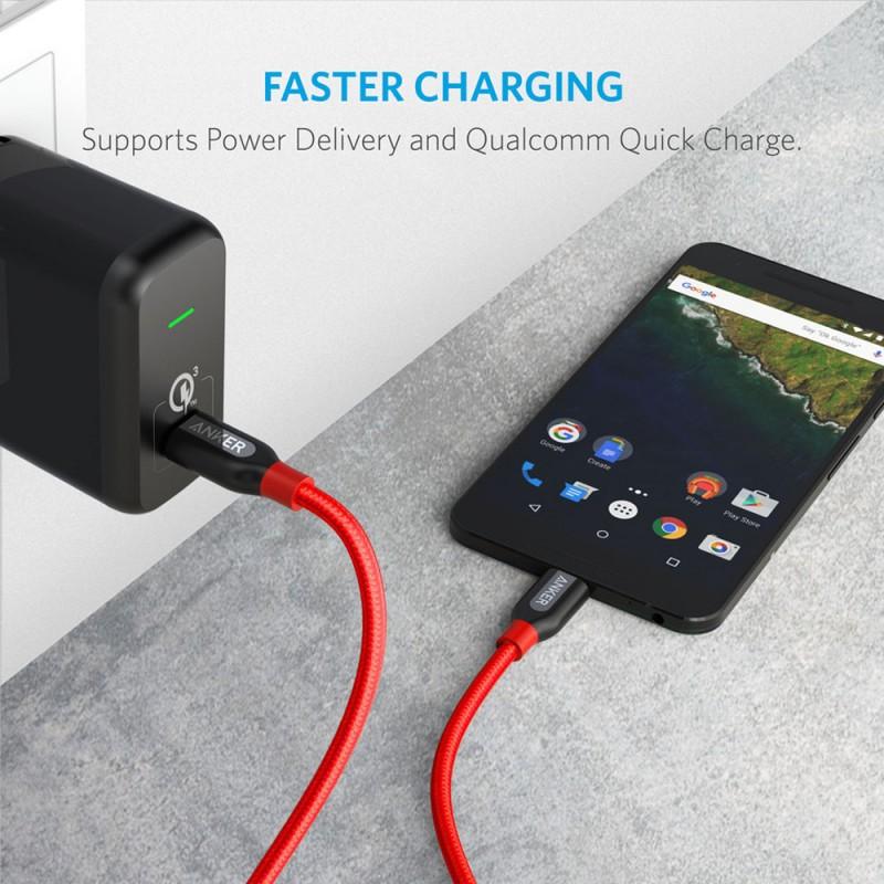 Anker PowerLine+ USB-C to USB-C 2.0(3ft) - GRAY