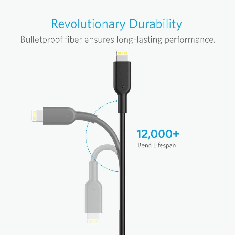 Anker PowerLine II 3ft USB to Lightning Cable
