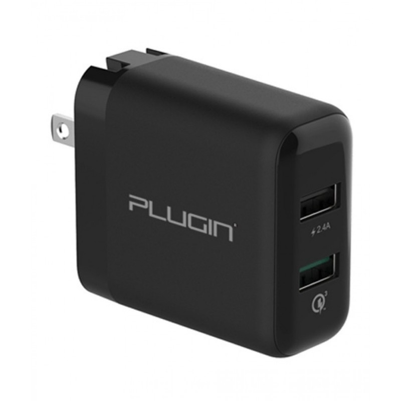 Plugin Fusion Dual Port Charger Qualcomm 3.0 And Smart Charge