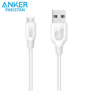 Anker PowerLine+ 3ft Micro USB Cable-White