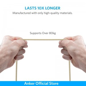Anker PowerLine+ 6ft Micro USB Cable-Golden