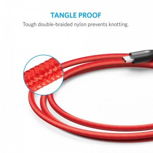 Anker PowerLine+ 3ft Micro USB Cable-RED