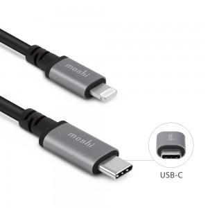 MOSHI USB-C to Lightning Cable 10 ft (3 m) - Black
