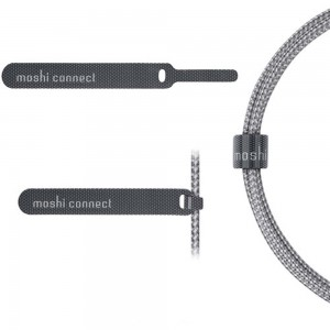 MOSHI Integra USB-C to Lightning Cable with 90-degree Connector 5 ft (1.5 m) - Titanium Gray