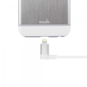 MOSHI Lightning to USB Cable with 90-degree connector - 1.5m White