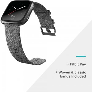 FITBIT ACTIVITY TRACKER VERSA WATCH SPECIAL EDITION CHARCOAL WOVEN / GRAPHITE ALUMINUM