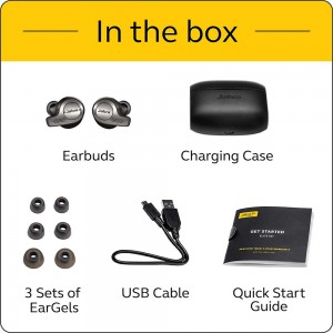 JABRA EARPHONE ELITE 65T TRUE WIRELESS (TITANIUM BLACK,COPPER BLACK)