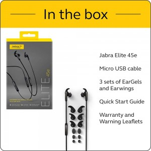 JABRA EARPHONE ELITE 45e WIRELESS TITANIUM BLACK