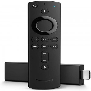 AMAZON STREAMING MEDIA PLAYER FIRE TV STICK WITH ALEXA VOICE REMOTE (2ND GEN) BLACK