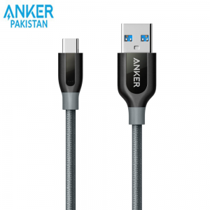 Anker PowerLine+ USB-C to USB 3.0 Cable 3ft. (Gray)