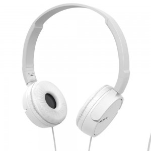 Sony MDR-ZX110 Overhead Headphones - White / Black